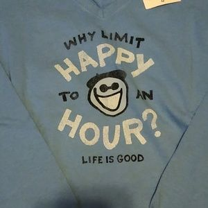 XS T-Shirt by Life is Good in Light Blue